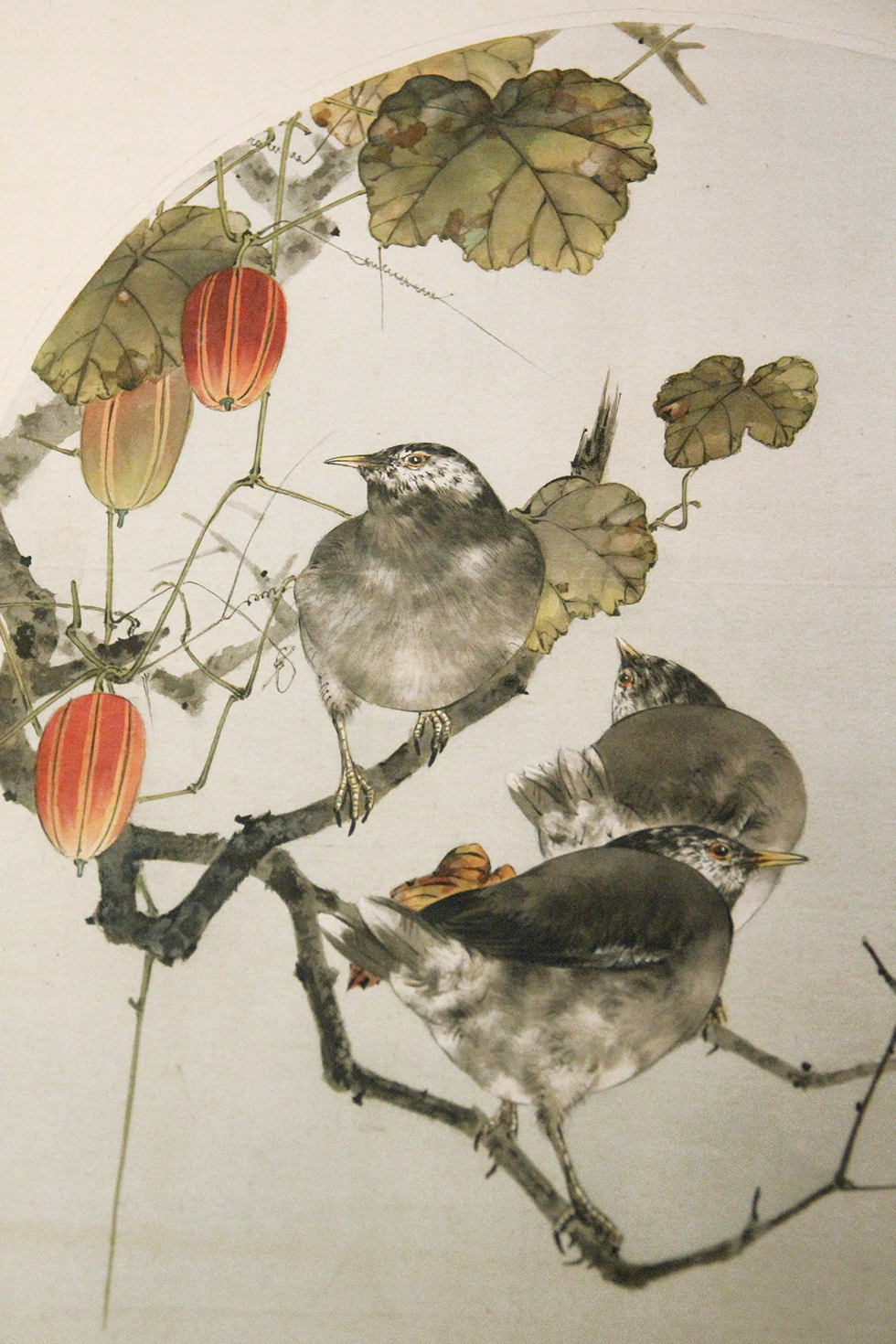 Thrush and Japanese Snake Gourds, Watanabe Seitei, Tokyo National Museum | Tokyo, Japan