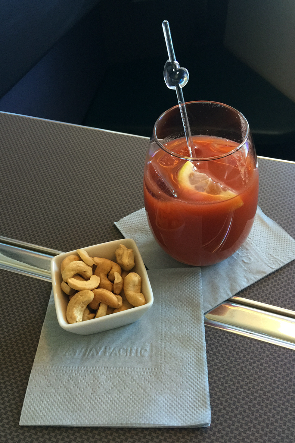 Bloody Mary on Cathay Flight 831 | In the air