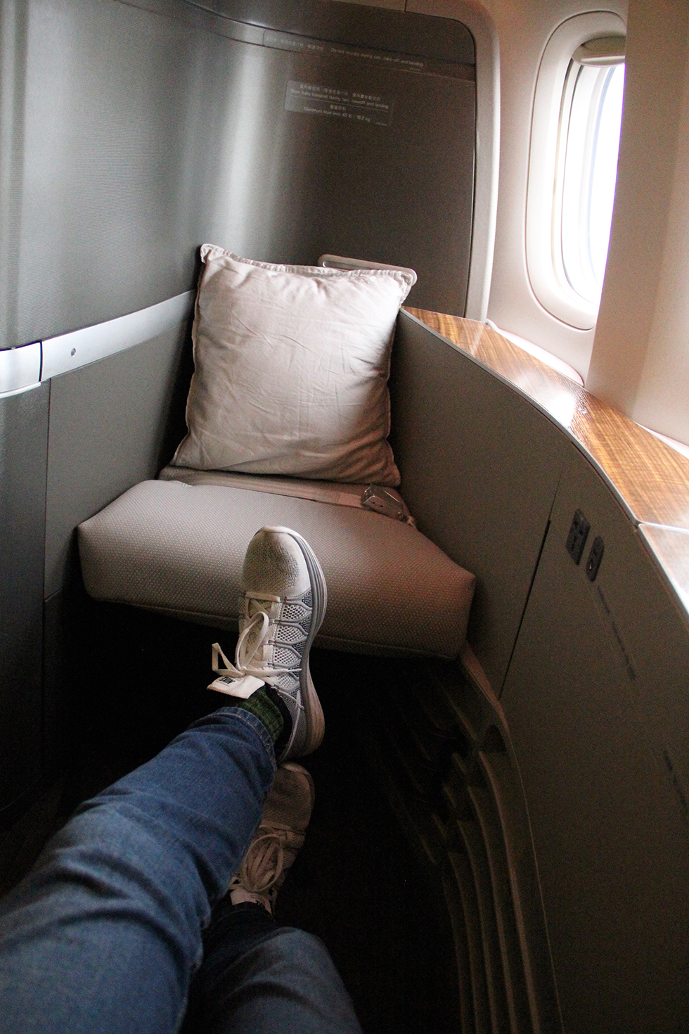 Seat 2D, First Class on Cathay Pacific | In the Air