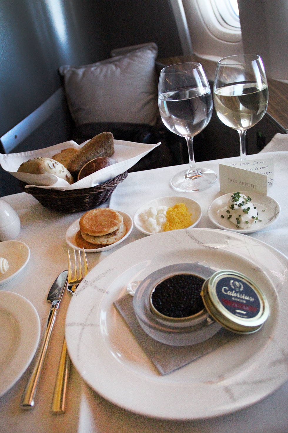 Caviar and Champagne | In the Air
