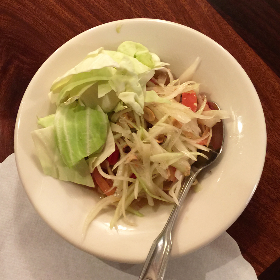 Very spicy papaya salad at Lotus of Siam | Las Vegas, Nevada