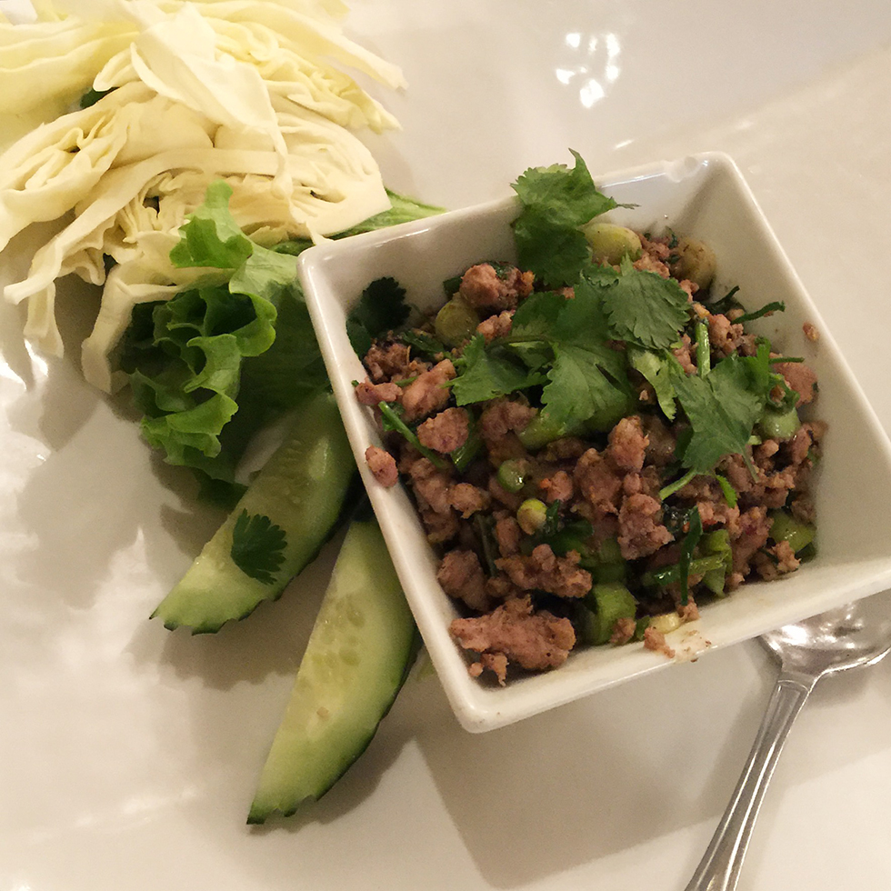 Northern style larb at Lotus of Siam | Las Vegas, Nevada