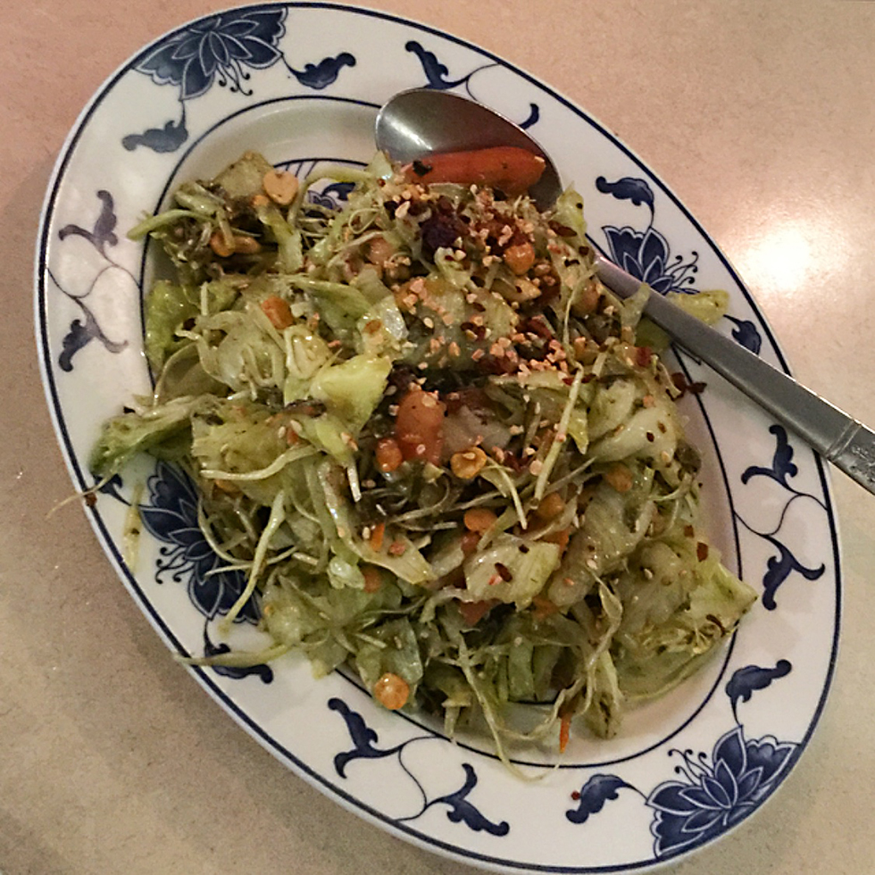 Tea leaf salad at Cafe Mingala | New York, New York