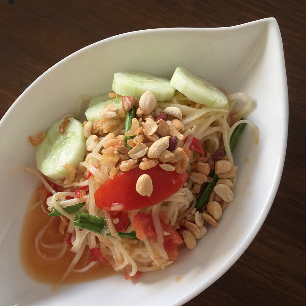 Mango and papaya salad at Aung Mingalar | Yangon, Myanmar