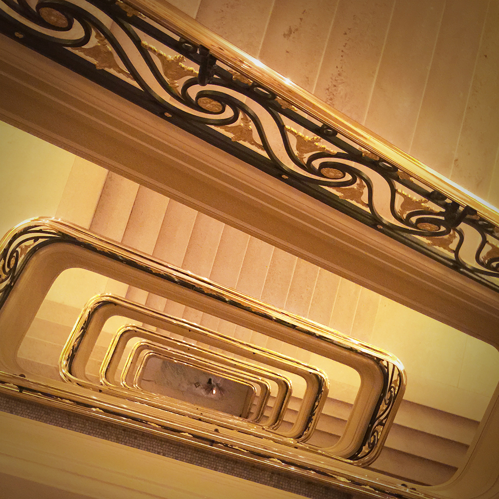 Grand staircase of Hotel Cafe Royal | London, England