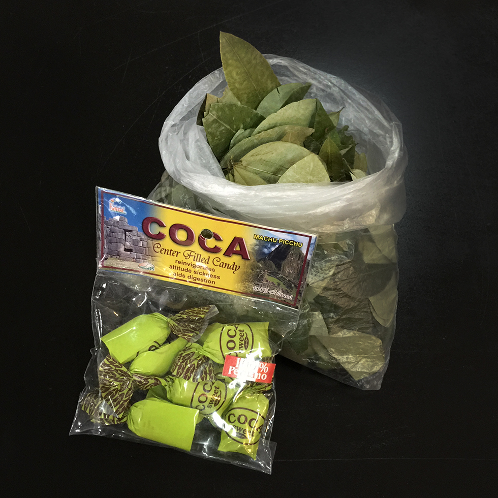 Coca leaves and coca candy | Aguas Calientes, Peru