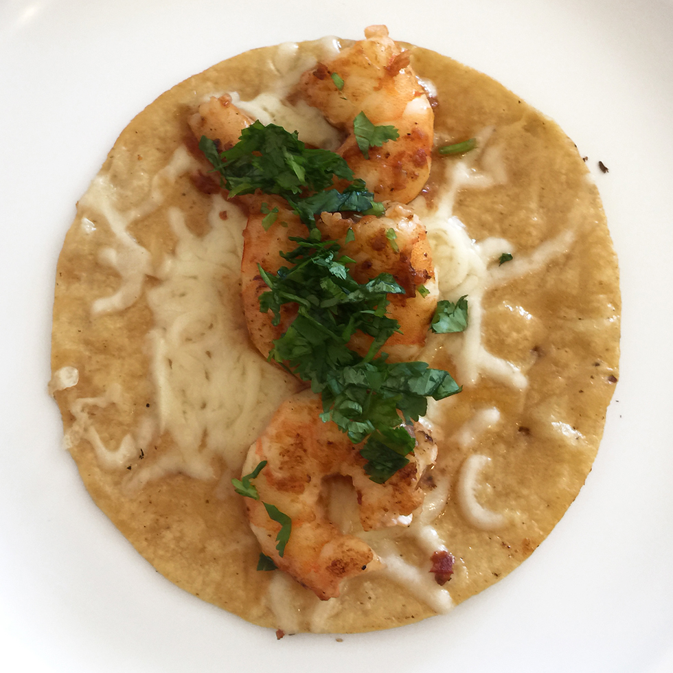 Shrimp taco at Mexicali | Los Angeles, California