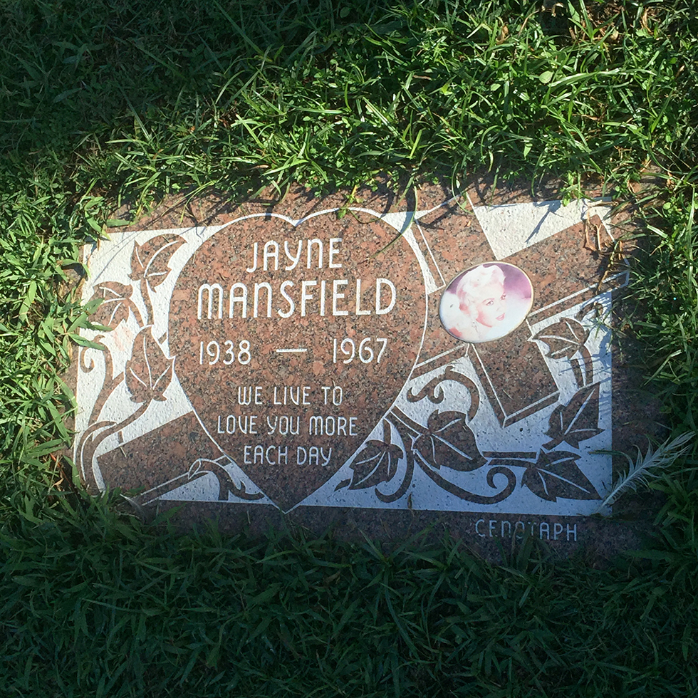 Jayne Mansfield, Hollywood Forever Cemetery | Los Angeles, California