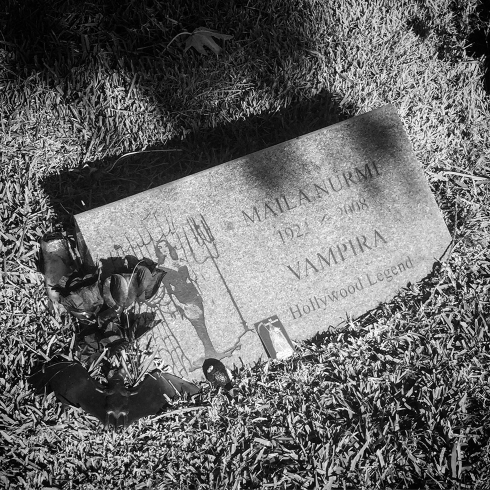 Vampira, Hollywood Forever Cemetery | Los Angeles, California