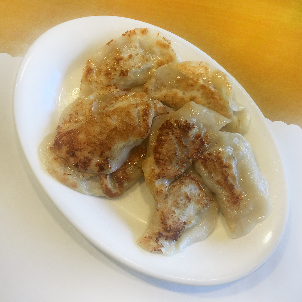 Pan fried pork dumplings at Luscious Dumplings | Los Angeles, California