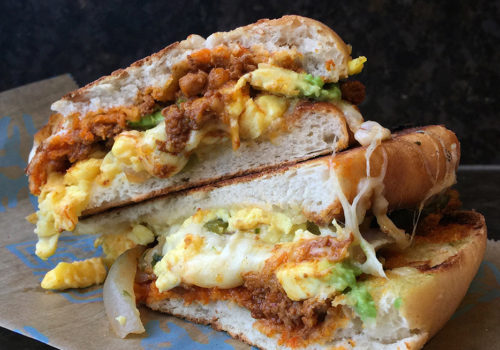 Egg, Chorizo, Avocado And Cheese Torta At Tortas Frontera | Chicago, Illinois