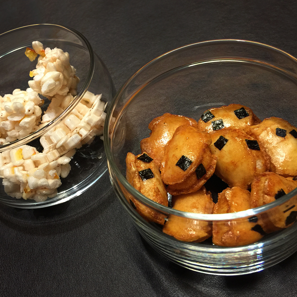 Addictive sweet and savory rice snacks compliments of Aman | Tokyo, Japan