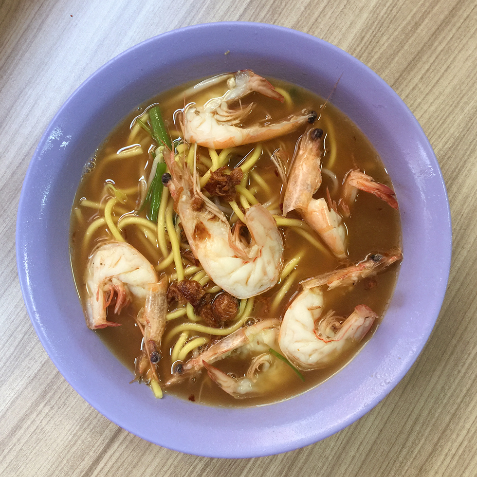 Prawn mee at Blanco Court | Singapore