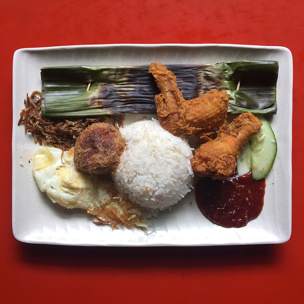 Nasi lemak at Selera Rasa | Singapore