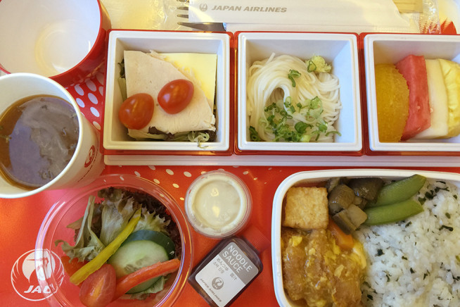 Inflight meal on Japan Airlines flight 8413 | In the Air