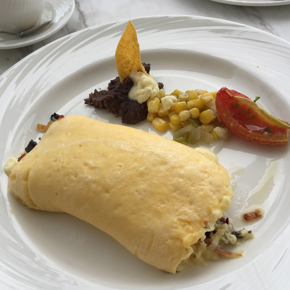 Breakfast omelette at Amanera | Dominican Republic