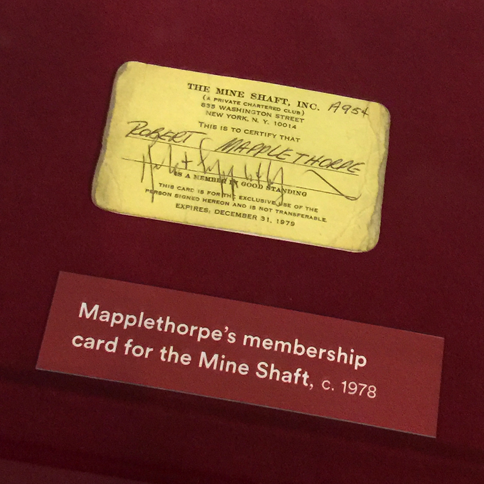 Mapplethorpe's Mine Shaft membership card at Los Angeles County Museum of Art | Los Angeles, California