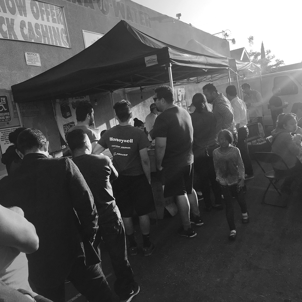 Line at Tire Shop Taqueria | Los Angeles, California