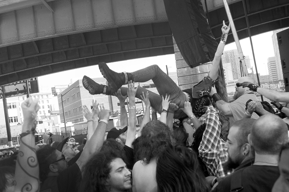 Crowdsurfing during Hirax at Maryland Deathfest 2016 | Baltimore, Maryland