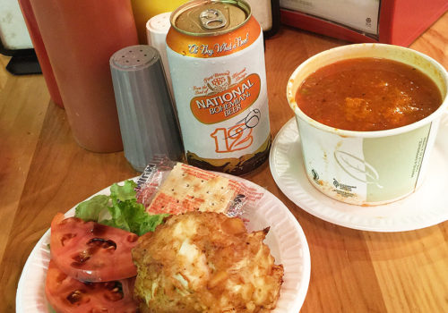 Crabcake And Crab Chowder At Faidley's | Baltimore, Maryland