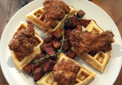 Chicken & Waffles At Home Maid