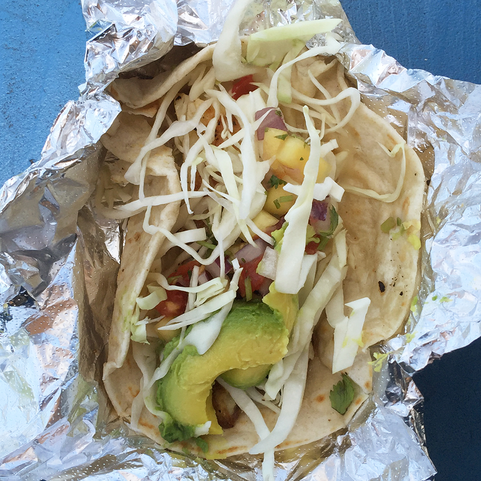Fish taco from Veracruz All Natural Food Taco Truck | Austin, Texas