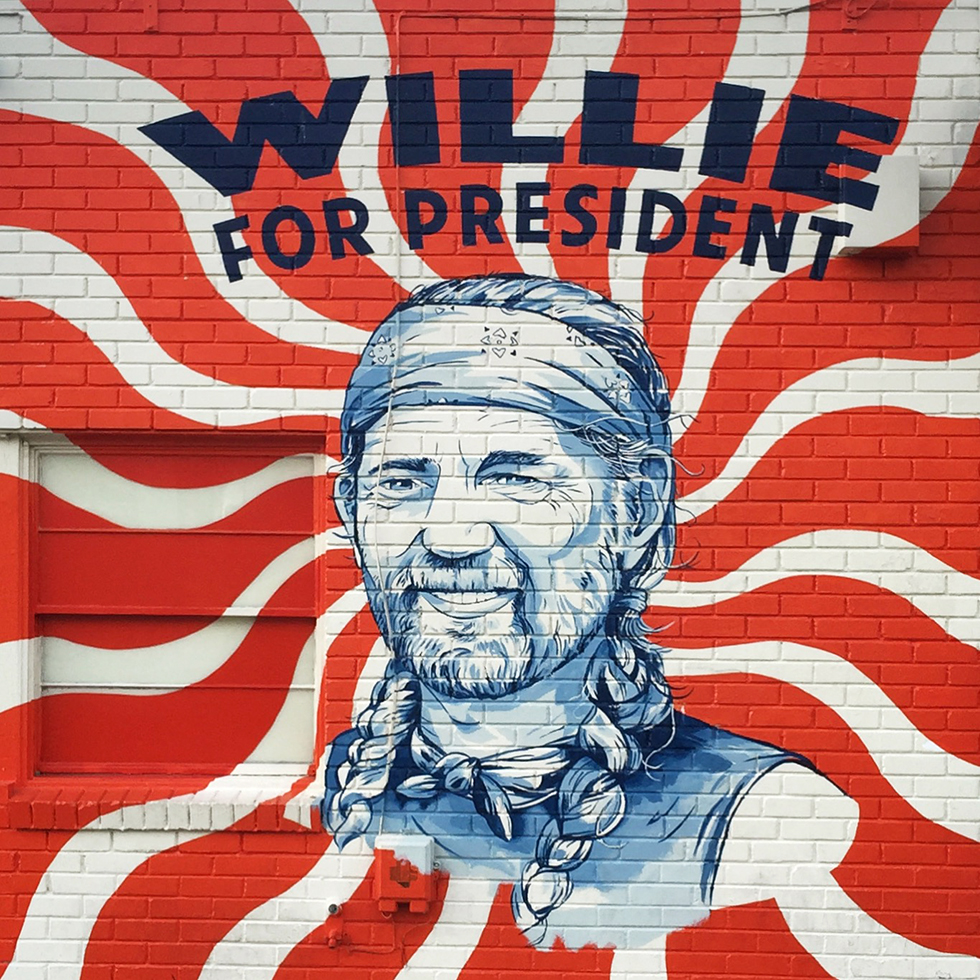 Wille for President mural in South Congress | Austin, Texas