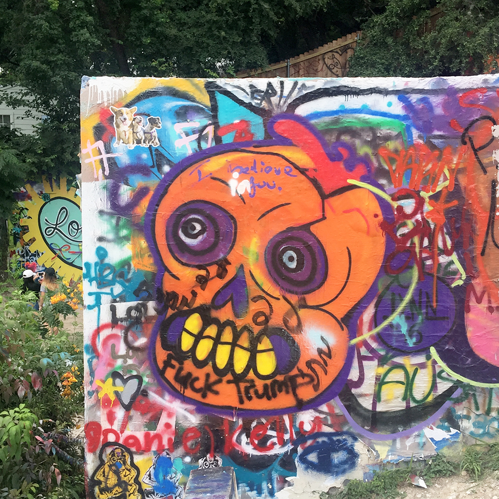 Graffiti and Murals at Hope Outdoor Gallery | Austin, Texas