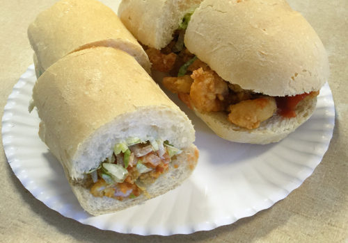 Half And Half Oyster/shrimp Po Boy At Domilise's | New Orleans, Louisiana