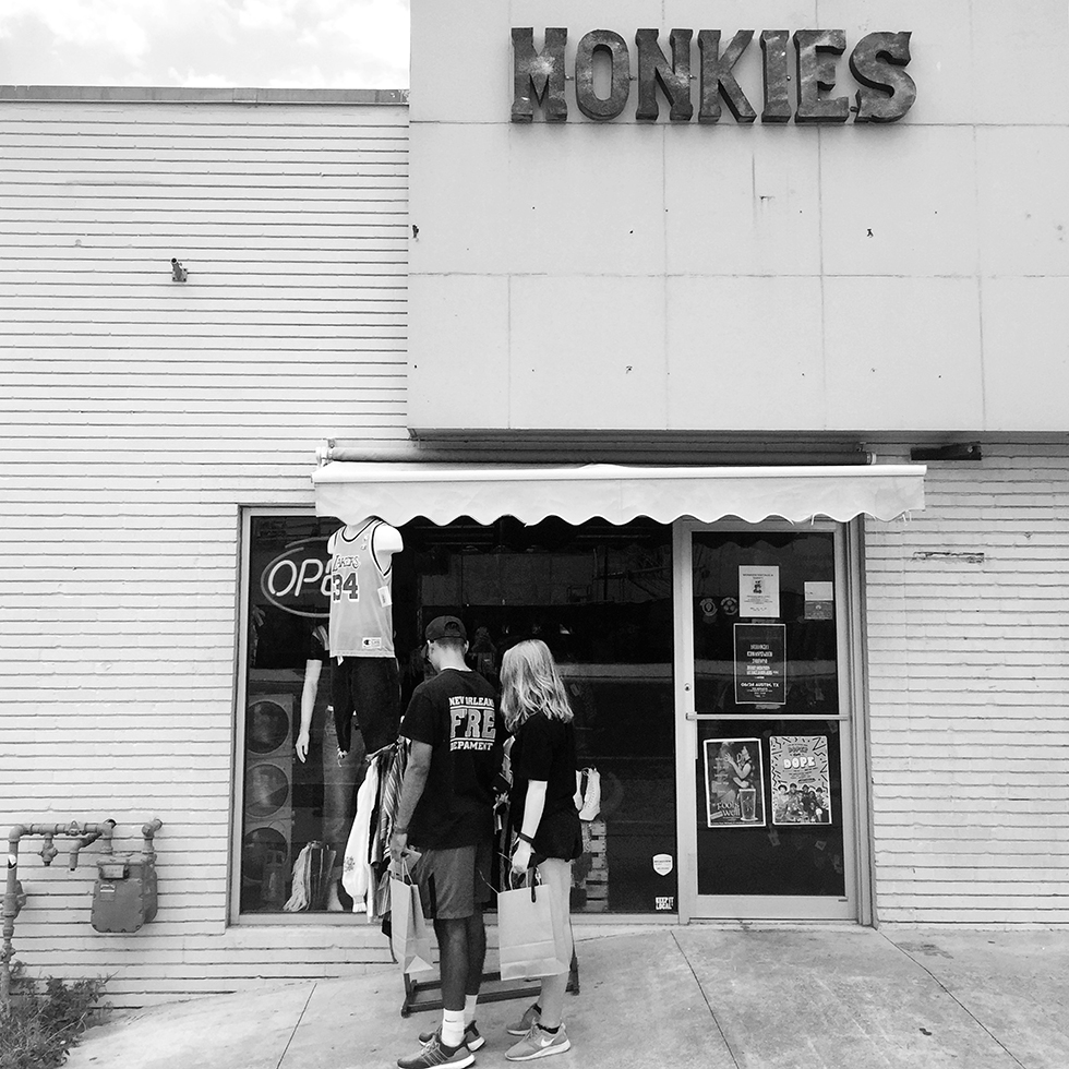 Monkies Vintage thrift shop | Austin, Texas