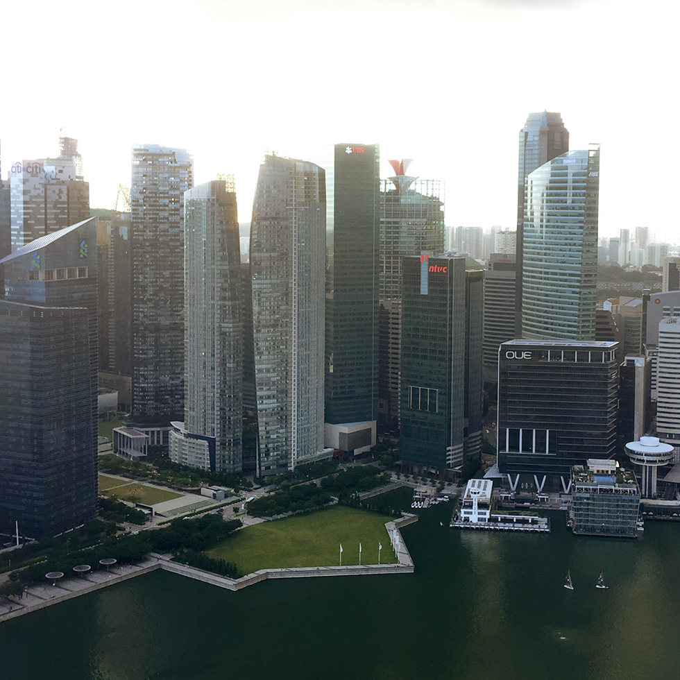 View from Flight Bar & Lounge   Singapore