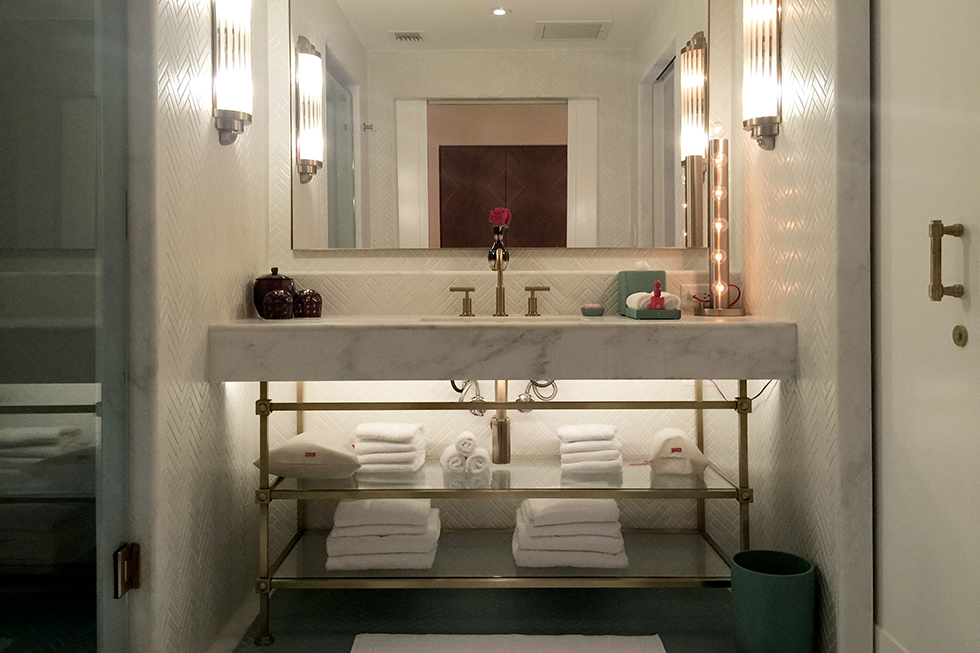 Bathroom in room 1211 at Faena Hotel | Miami, Florida