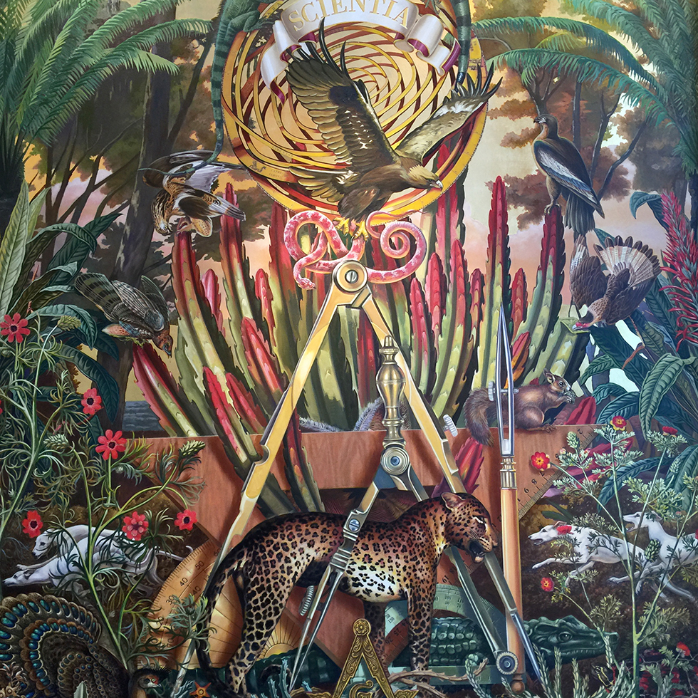 Foyer mural at Faena Hotel | Miami, Florida