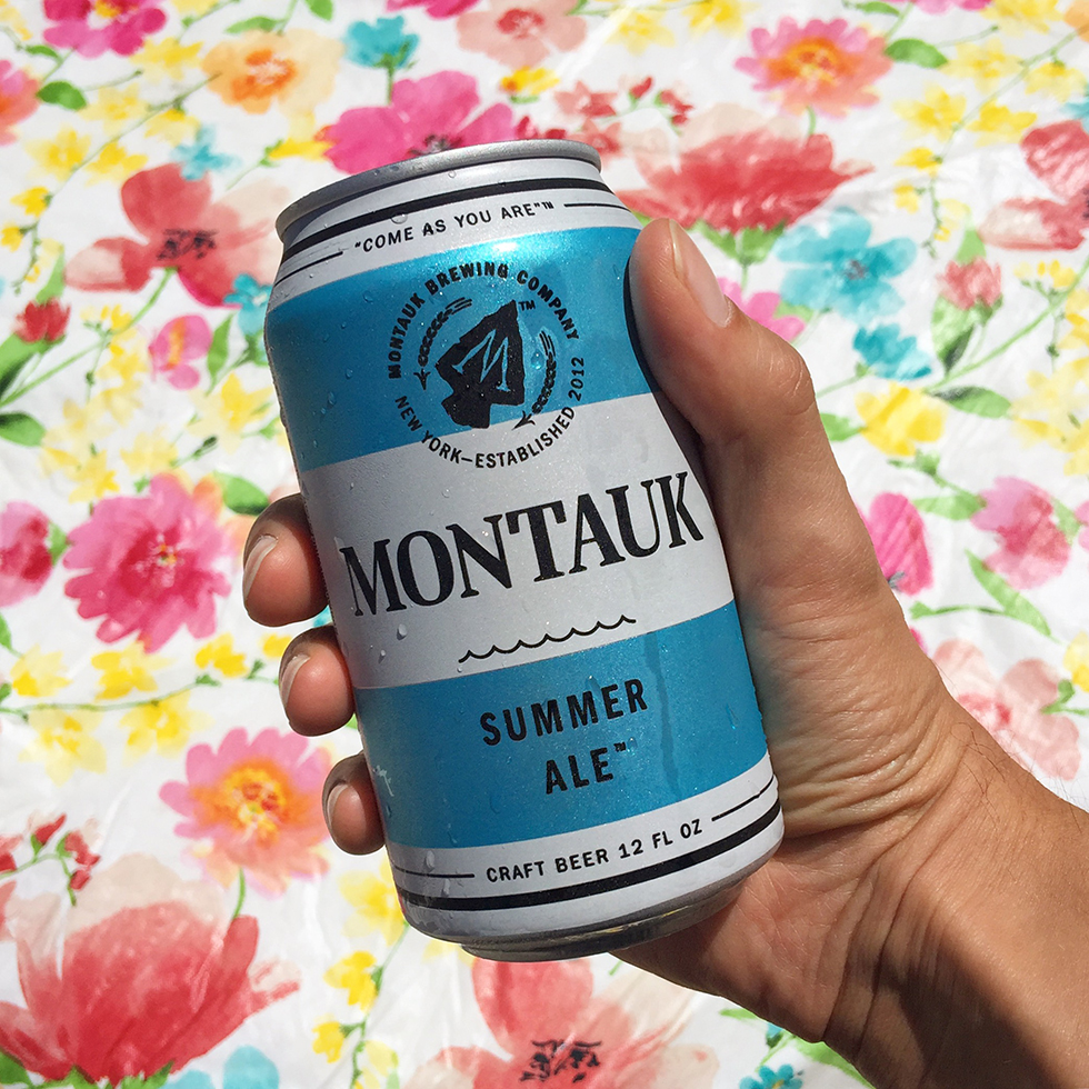 Drinking Montauk Summer Ale in Fire Island | Fire Island, New York