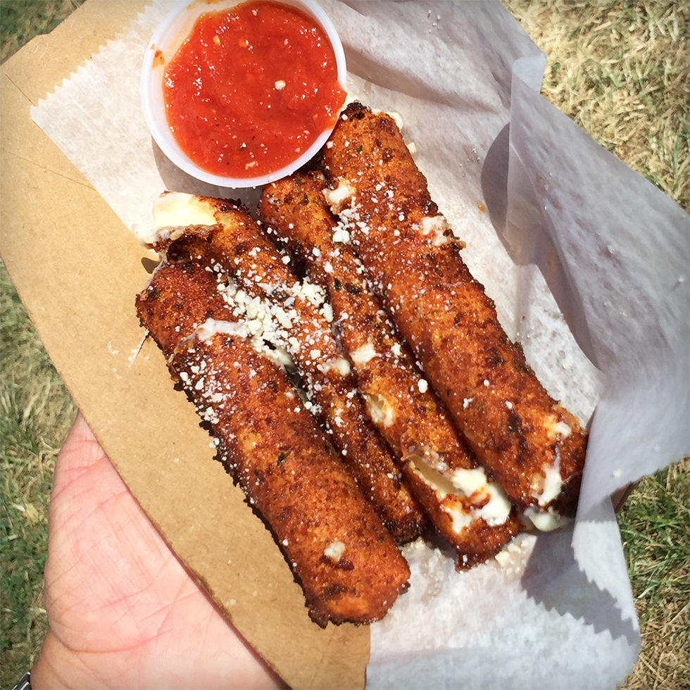 Mozzarella sticks from Big Mozz at Smorgasburg | Brooklyn, New York