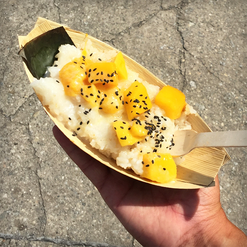 Mango sticky rice from Bamboo Bites at Smorgasburg | Brooklyn, New York