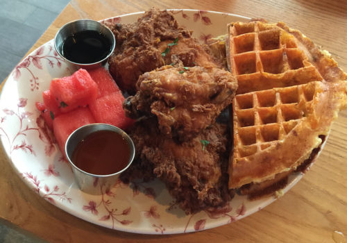 fried chicken and deviled eggs at yardbird yardbird is serving up some ...