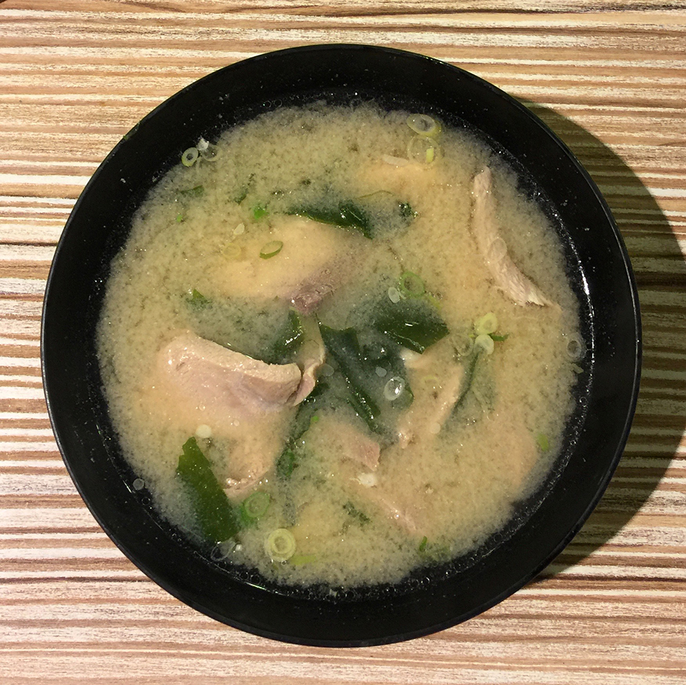 Large bowl of miso soup with fish from Addiction Aquatic Development | Taipei, Taiwan