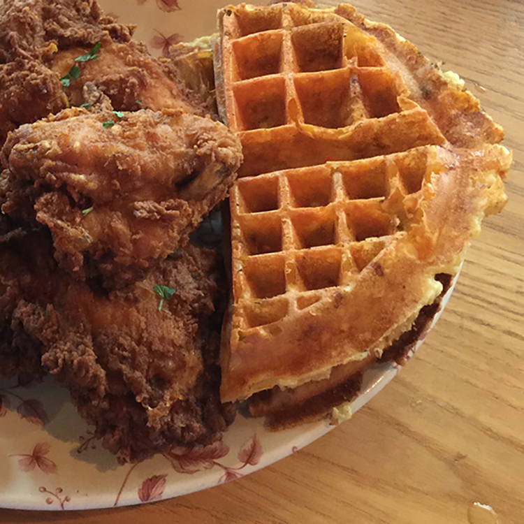 Fried chicken n' waffles at Yardbird | Miami Beach, Florida