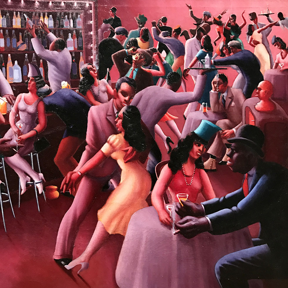 Nightlife by Archibald J. Motley Jr. at the AIC | Chicago, Illinois