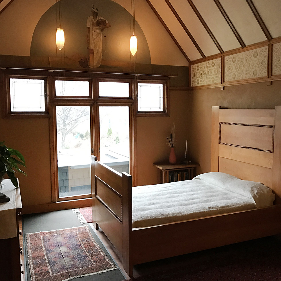 Frank Lloyd Wright's bedroom in Oak Park | Chicago, Illinois