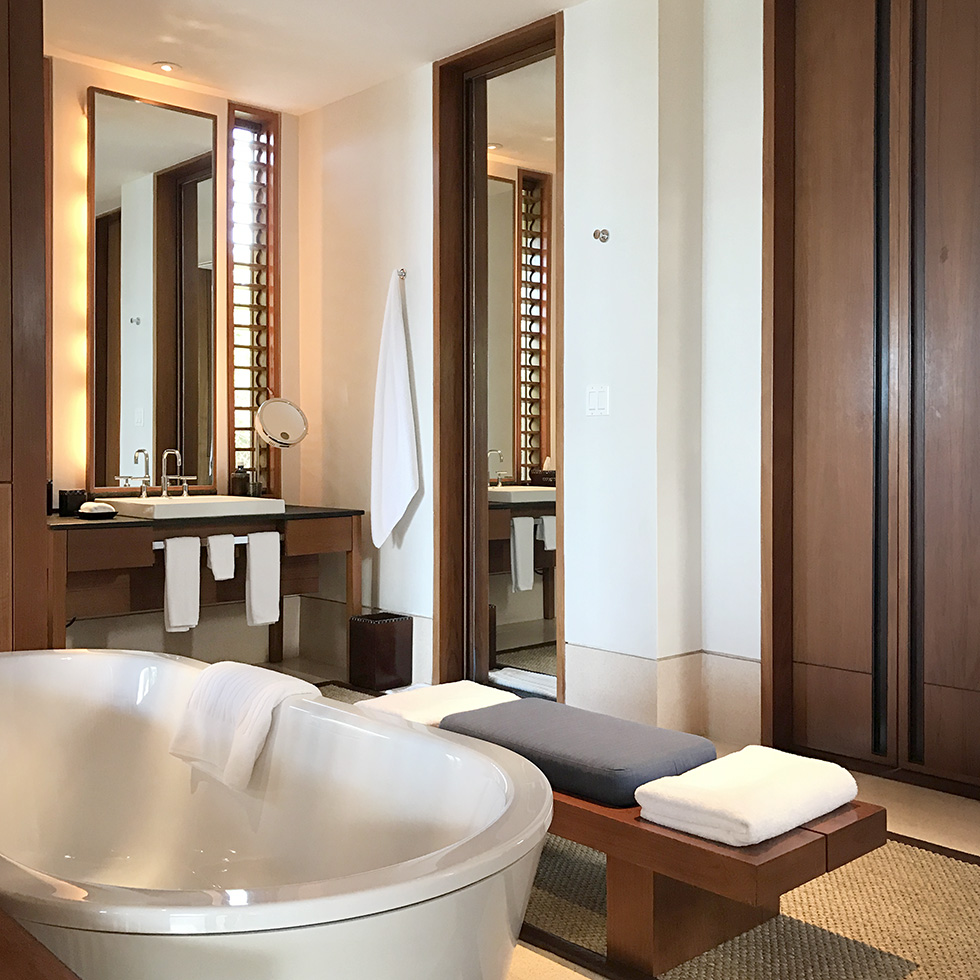 The tub and bath in villa 122 at Amanyara | Turks and Caicos