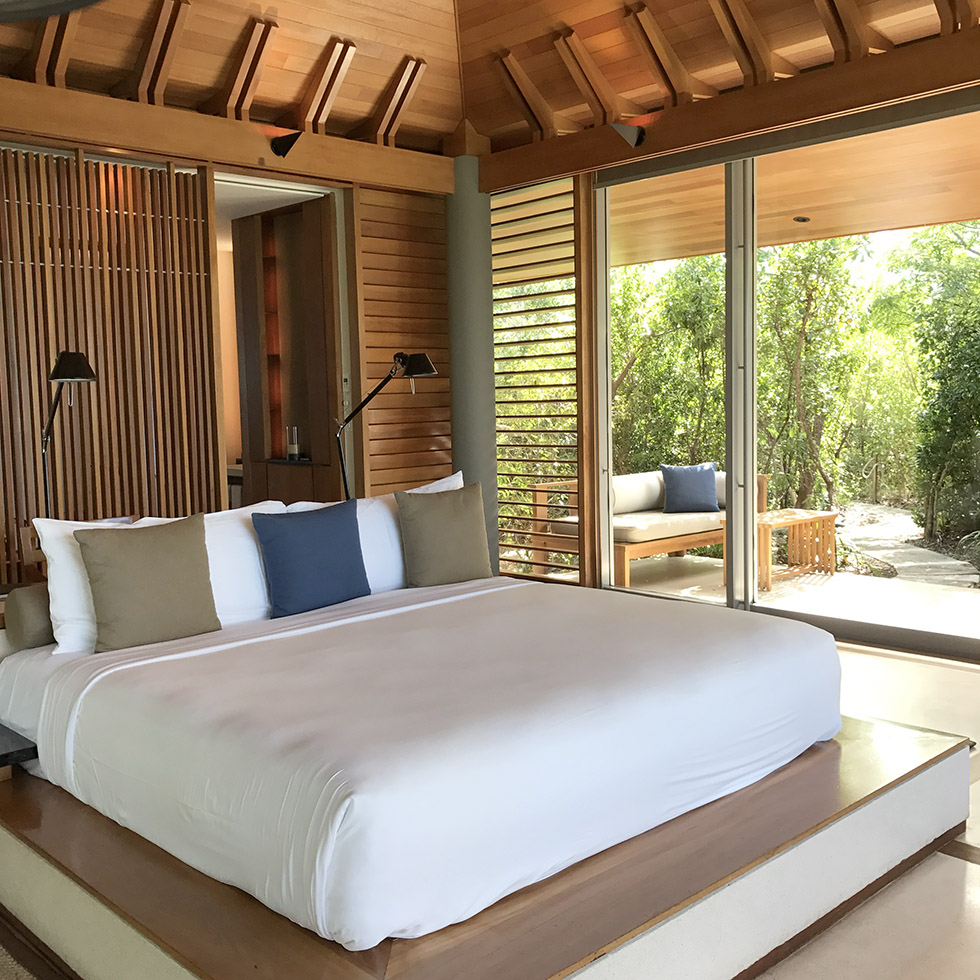 The bed situation in villa 122 at Amanyara | Turks and Caicos
