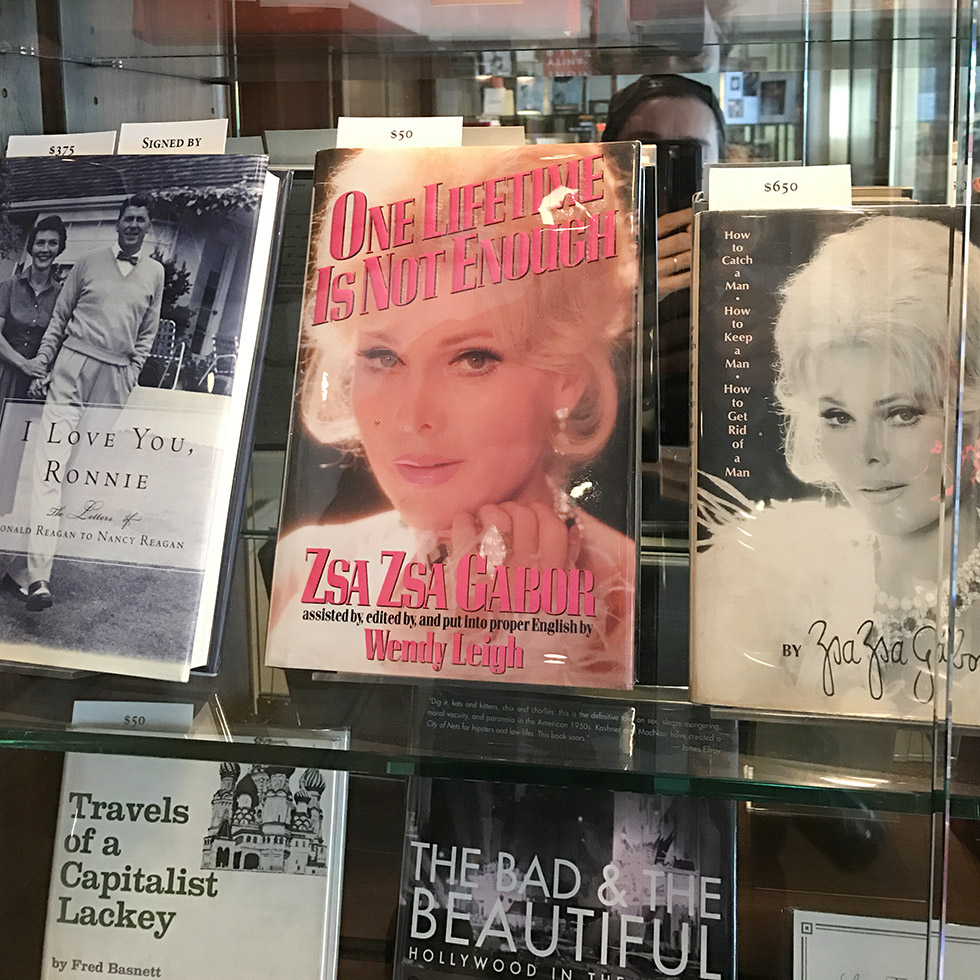 First editions for sale at Sunset Tower Hotel | Los Angeles, California